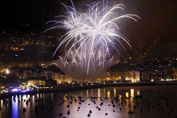 feu artifice semana grande-donostia Erronda evenements
