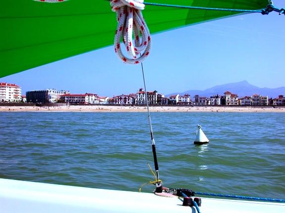 vue bateau cote basque croisiere gourmande Erronda
